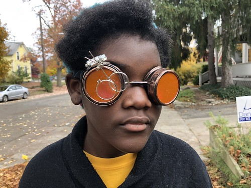 Black Girl Steam Punk Sun Glasses | by stevendepolo