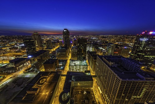 st louis city downtown missouri urban night blue hour