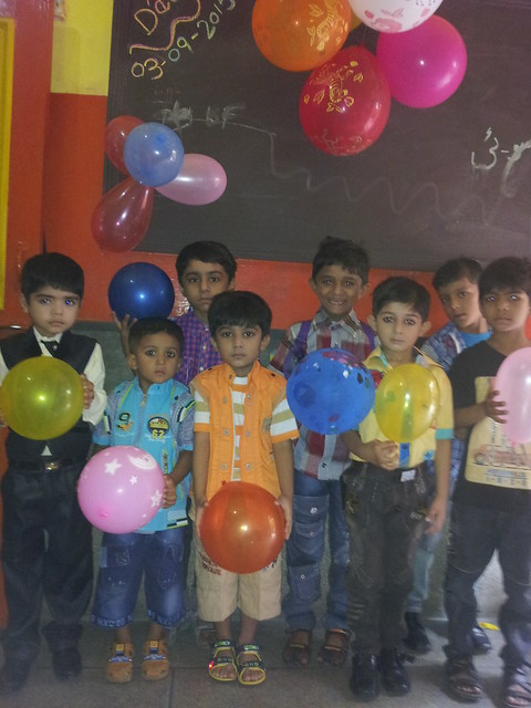 Celebrations of Balloon's day at New Modern Pilot High School