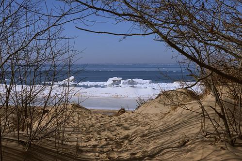 path lake lakeshore lakemichigan beach sand shoreice