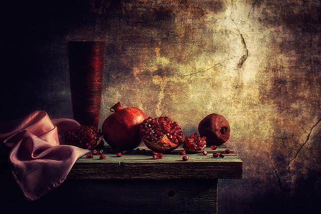 Pomegranate for breakfast