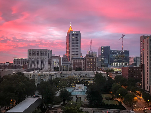 atlanta usa georgia sunrise skyline 2018 unitedstates us south