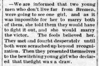 1886 - boys fight to a draw for girl - Enquirer - 23 Oct 1886 | by historic.bremen