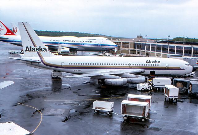 ALASKA AIRLINES 720 N303AS ANC 22 JUN 1975 JOHN B HAYES