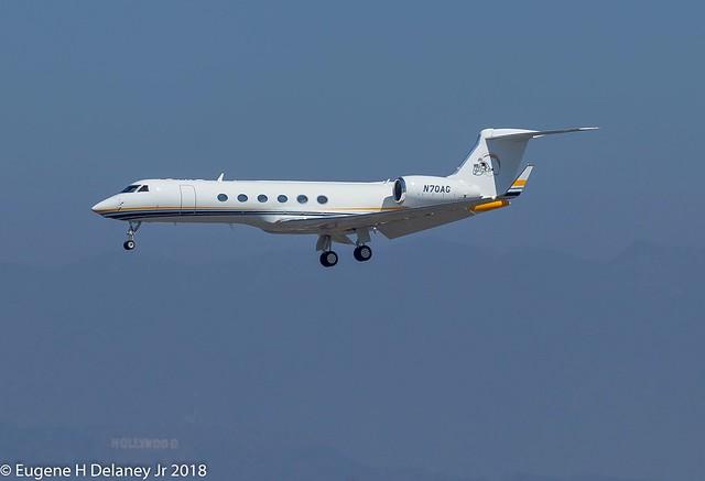 Chargers Football Co LLC, N70AG, 1997 Gulfstream Aerospace G-V, MSN 522