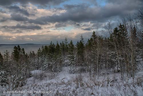 acadianationalpark atlanticocean barharbor maine nikonafsnikkor2412014ged nikond850 oakhillcliff richhaig schoonerheadoverlook clouds sky snow trees