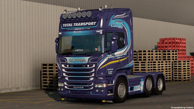Scania R580 Streamline - Total Transport Europe