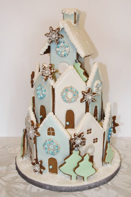 Winter Wonderland Gingerbread House Cake