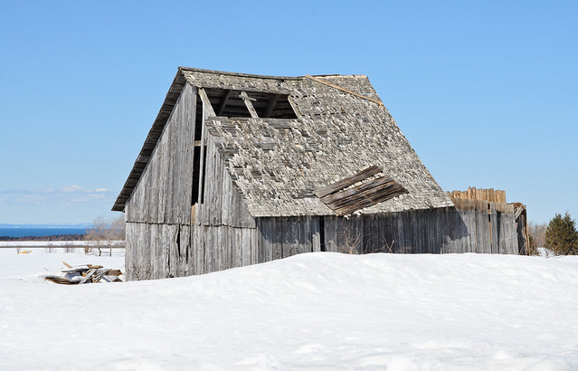 Très vieille grange à Ste-Flavie.