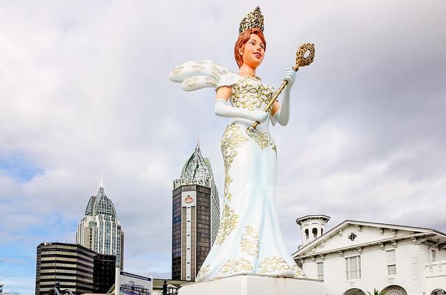 First Mardi Gras Queen statue in Mobile Alabama