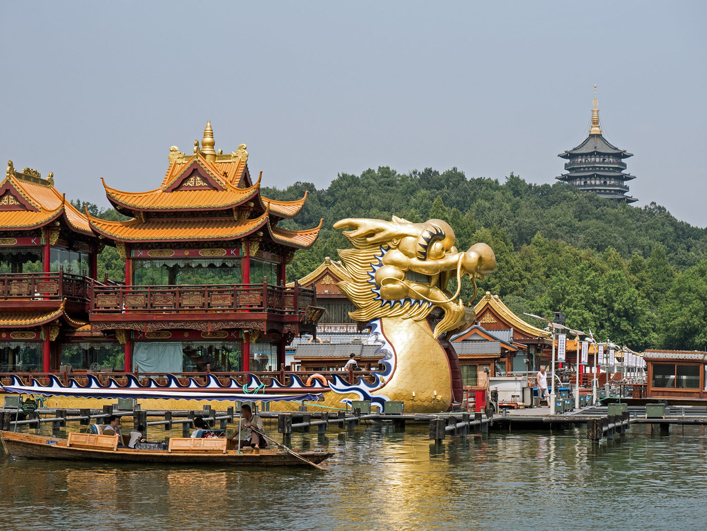 Hangzhou Westsee West Lake Drachenboot dragon boat
