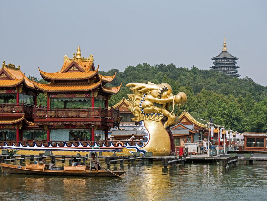 Hangzhou Westsee West Lake Drachenboot dragon boat