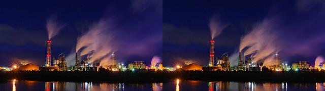 Iwanuma Mill, Nippon Paper Industries Co., Ltd., 4K UHD, stereo parallel view