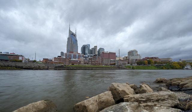 Skyline, Cumberland River, Nashville, Davidson County, Tennessee 2