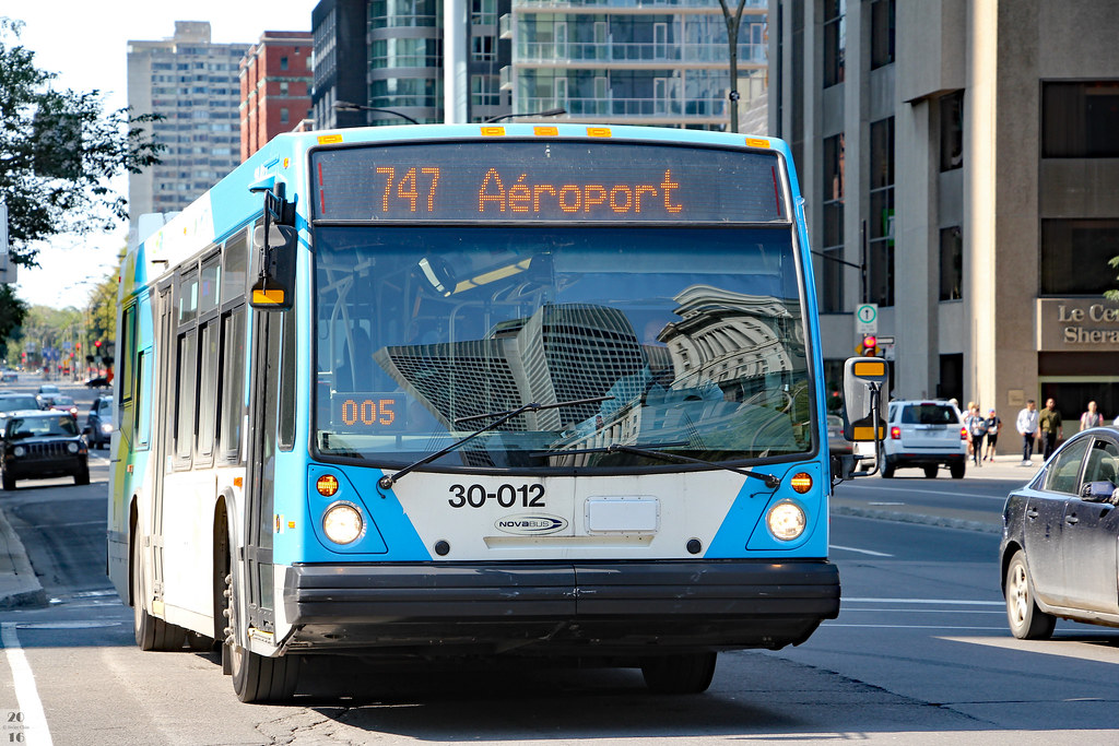 Montreal Airport Bus Route 747 Route 747 Offers Service Be Flickr