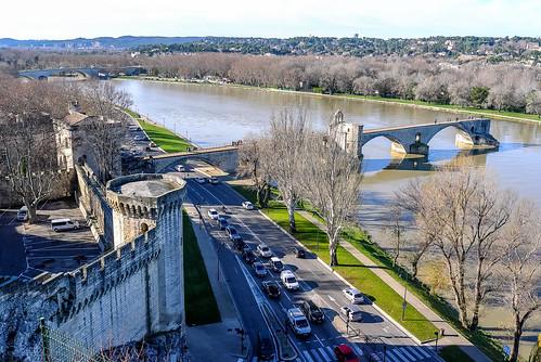 avignon city center centre ville provence france frankreich pontdavignon brige rhône rhone saintbénézet medieval