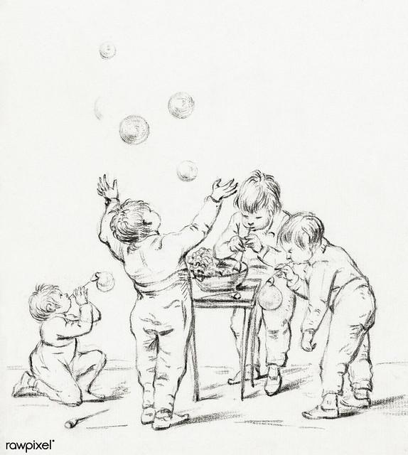Children by Jean Bernard (1775-1883). Original from the Rijks Museum. Digitally enhanced by rawpixel.