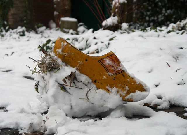 Clog in the snow