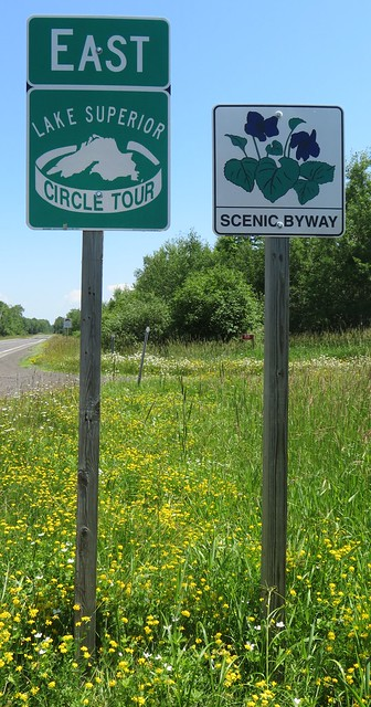Lake Superior Circle Tour and Scenic Byway Signs (Bayfield County, Wisconsin)