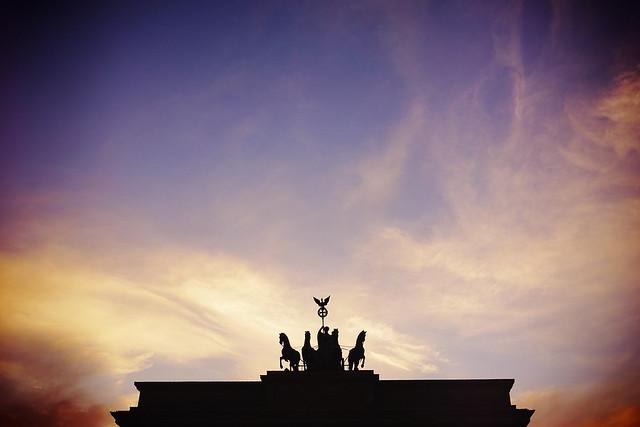Sunset at Brandenburger Tor