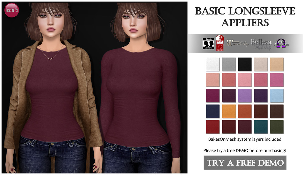 Basic Longsleeve Appliers | perfect for layering under ...