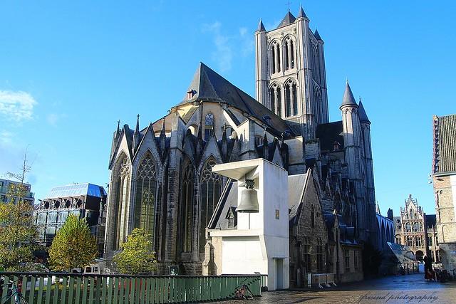 The Saint Nicholas church in Ghent, Belgium