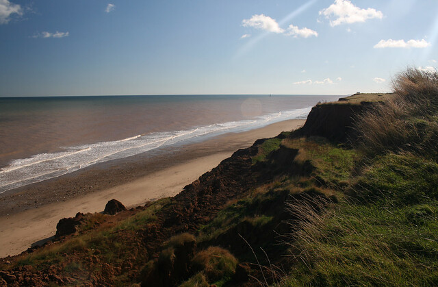 The beach at Aldbrough, Yorkshire
