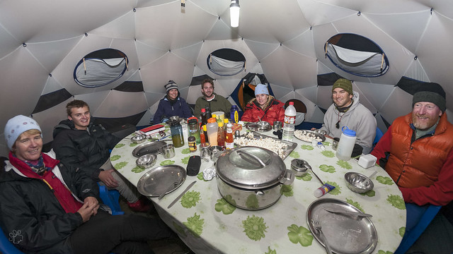 Soup time in the dining tent