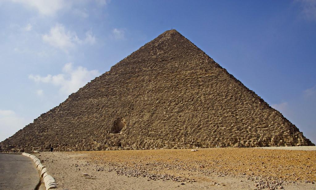 Bau Der Cheops Pyramide