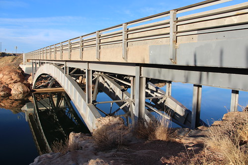 archbridge deckarch girderribbeddeckarch clearcreek navajocounty arizona arizonahistoricbridgeinventory