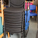 Stackable meeting chairs