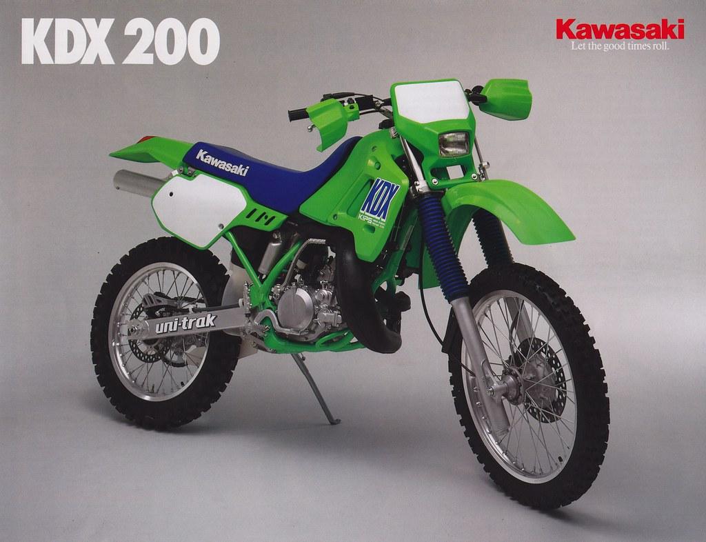 1989 Kawasaki KDX200 Brochure page 1   Tony Blazier   Flickr