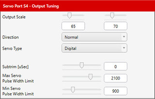 042 - Output Tuning dialog, elevator, Servo Ports tab   by JD and Beastlet