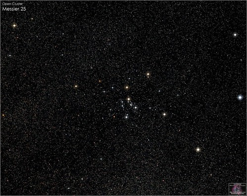 Messier 25 - Open Cluster in Sagittarius | by The Dark Side Observatory