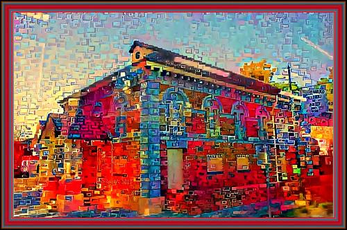 richmondschoolofarts textures texturen texture textur rahmen frame photoborder ddg deepdreamgenerator 41561 hx9v red rot