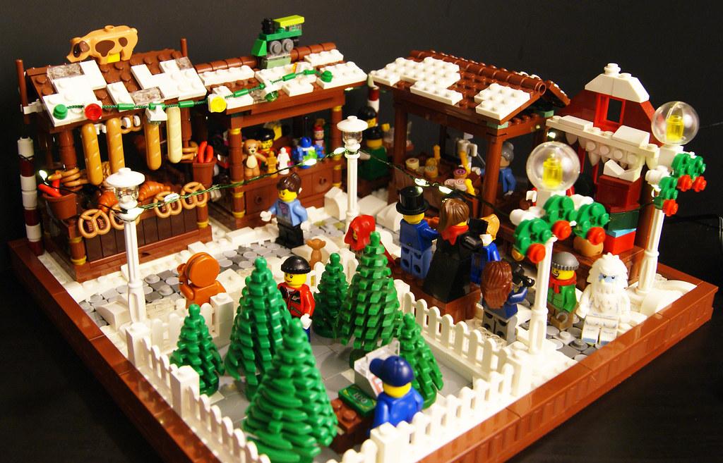 Lego Christmas.Lego Christmas Market 1 A Christmas Market That Includes A