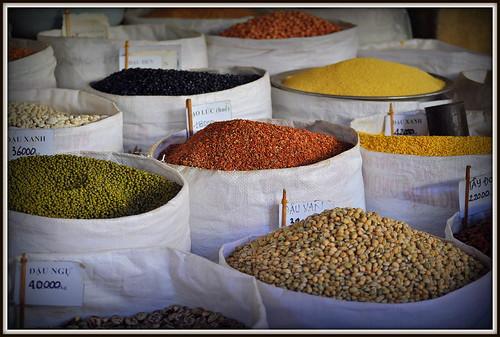 Plaisir pour les yeux dans les marchés du Vietnam.