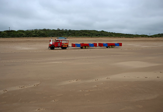 The sand train north of Mablethorpe