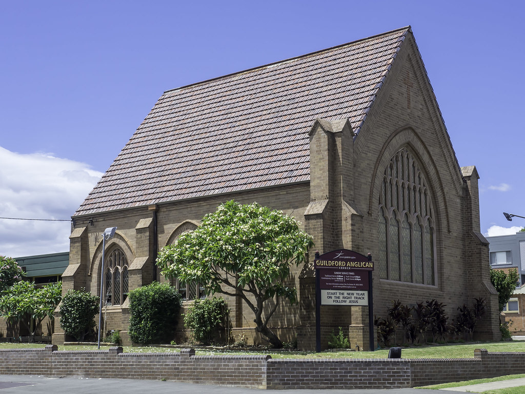 St Mary's Anglican Church, Guildford NSW, built 1937 - see below