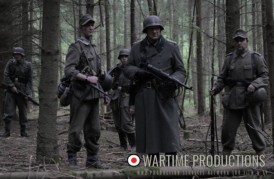 German WW2 Officers on Partizan Patrol   21infantry co uk/ w