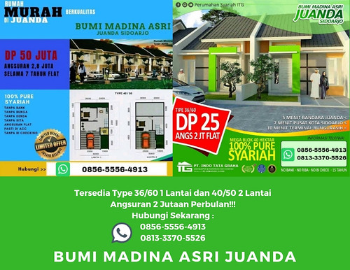 PROMO!!! 0856-5556-4913, Rumah Murah Syariah Sidoarjo