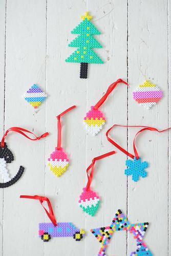 DIY with kids: Hama beads Christmas ornaments | by jutta / kootut murut
