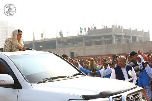 Arrival of Satguru Mata Ji in the Satsang Pandal