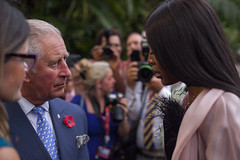 Prince Charles with British Super Model, Naomi Campbell
