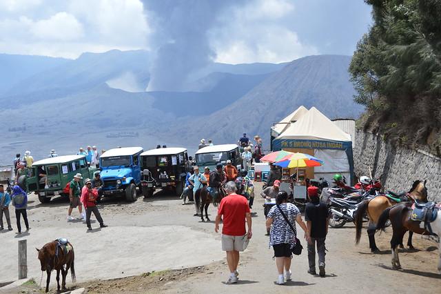 Mount Bromo Volcano Eruption