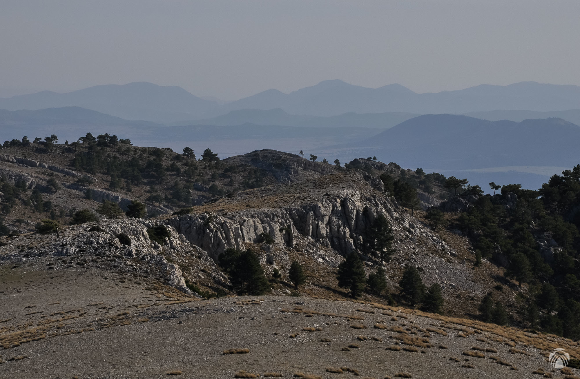 La característica meseta de la zona de cumbres