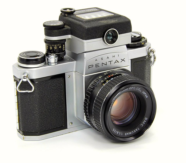 Asahi Pentax SV + Pentax Lightmeter + Asahi Takumar SMC 55mm f1.8. Made in Japan. 1962