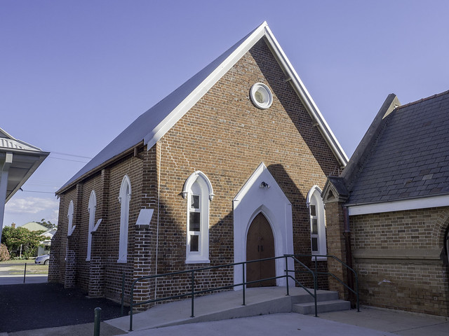 Original, 1874 built Uniting Church, Inverell NSW - see below