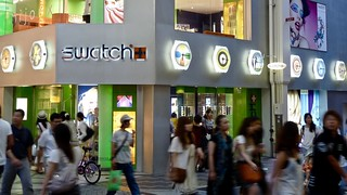 SWATCH Shop Clock Signs, Namba Osaka, Japan | by Arjan Richter