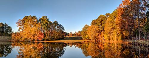 northcarolina bondpark landacape fall cary goldenhour